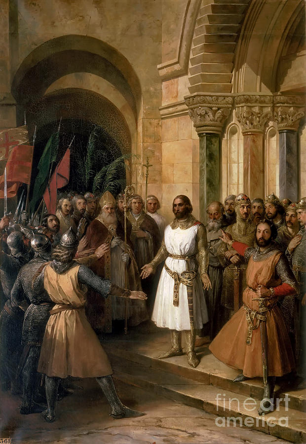 The Election Of Godfrey Of Bouillon Drawing by Heritage Images