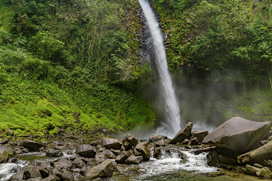 Waterfall Photograph - The Enchanting Downfall Waterfall by Betsy Knapp