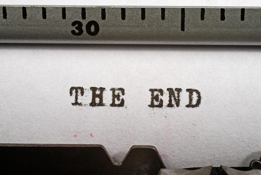 The End, Typed On An Old Manual Photograph by David Gould