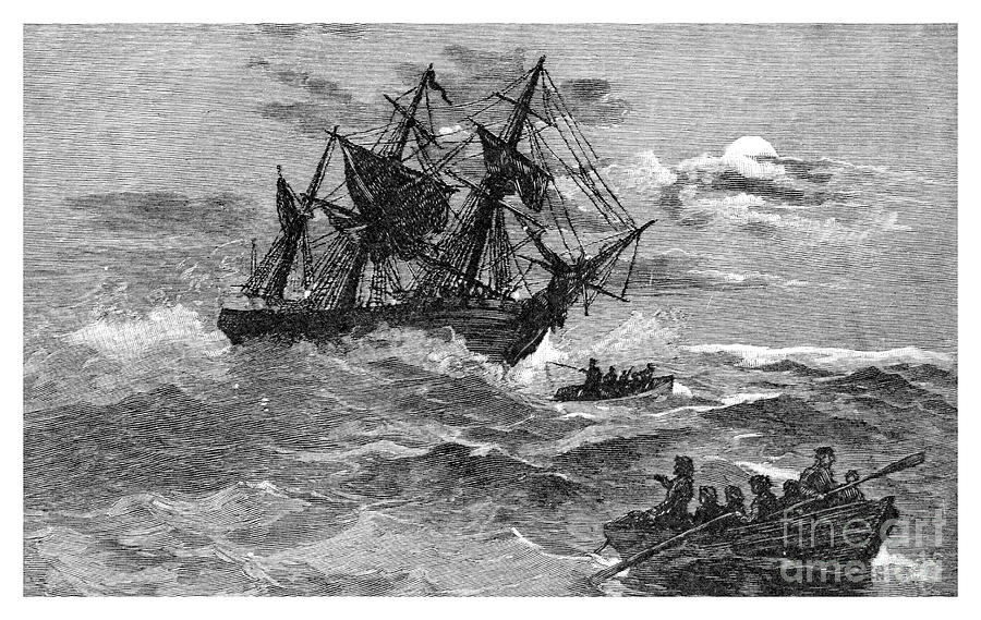 The Endeavour On The Reef, Australia Drawing by Print Collector