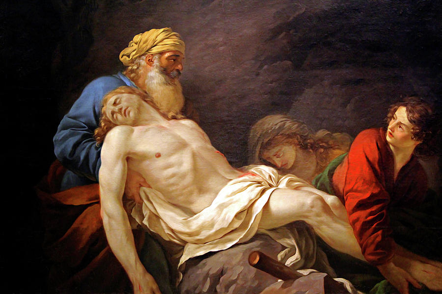 The Entombment of Christ Series 1703 by Carlos Diaz