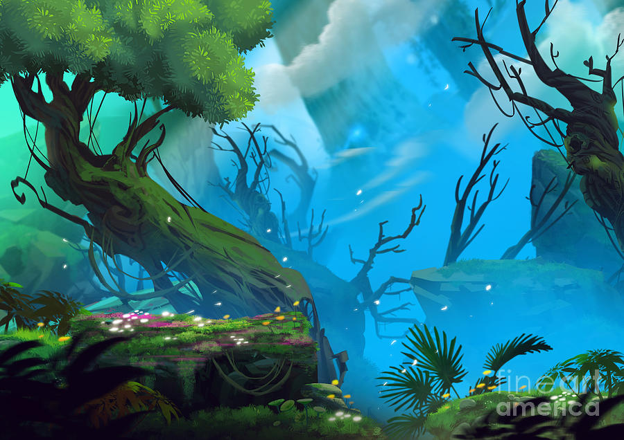 Paint Digital Art - The Entrance Of Mystery Valley In A by Nextmarsmedia