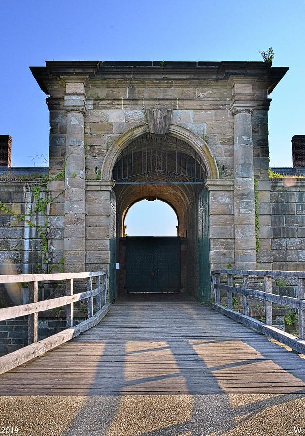 The Entrance To The Fort At Fort Washington Park Vertical by Lisa Wooten