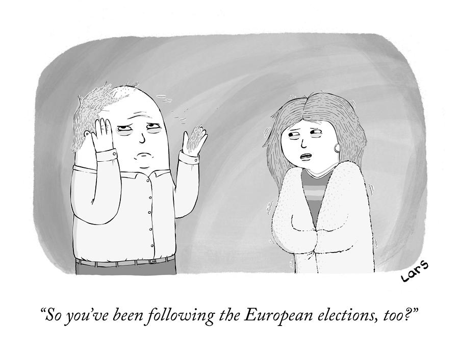 The European Elections Drawing by Lars Kenseth