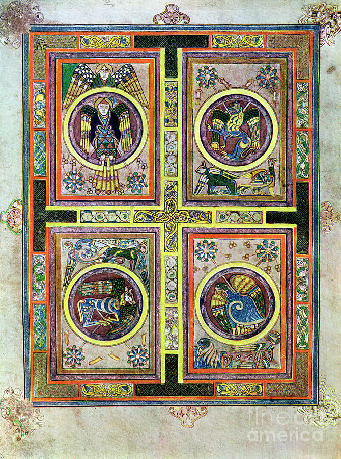The Evangelical Symbols, 800 Ad, 20th Drawing by Print Collector