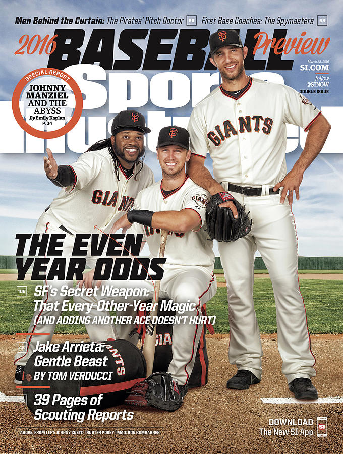 The Even Year Odds, 2016 Mlb Baseball Preview Issue Sports Illustrated Cover Photograph by Sports Illustrated