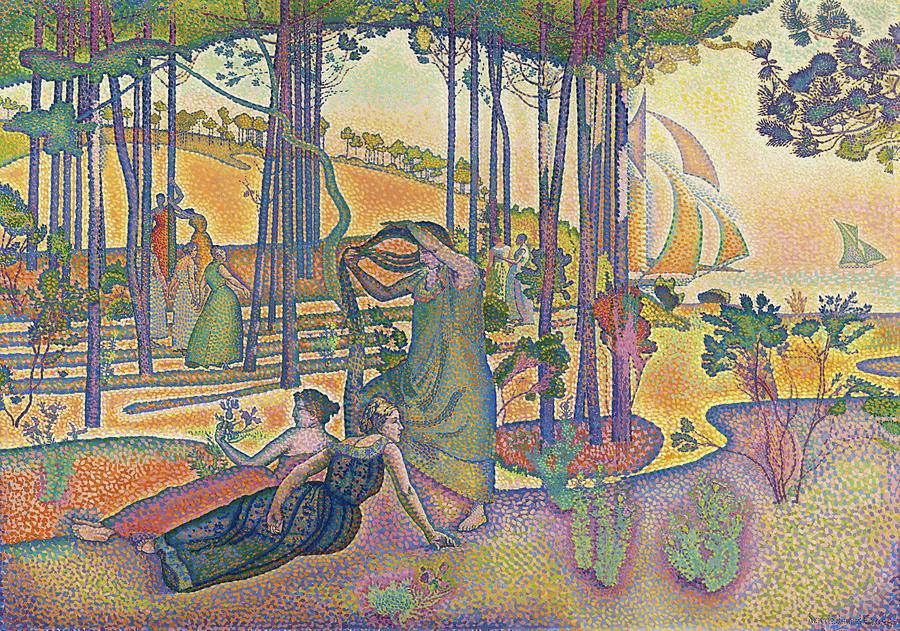 Henri Edmond Cross Painting - The Evening Air, 1893 by Henri-Edmond Cross