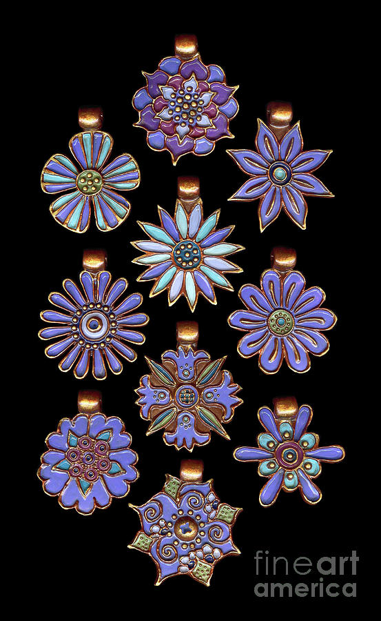 The Exalted Beauty Empress Medallions. Cornflower by Amy E Fraser