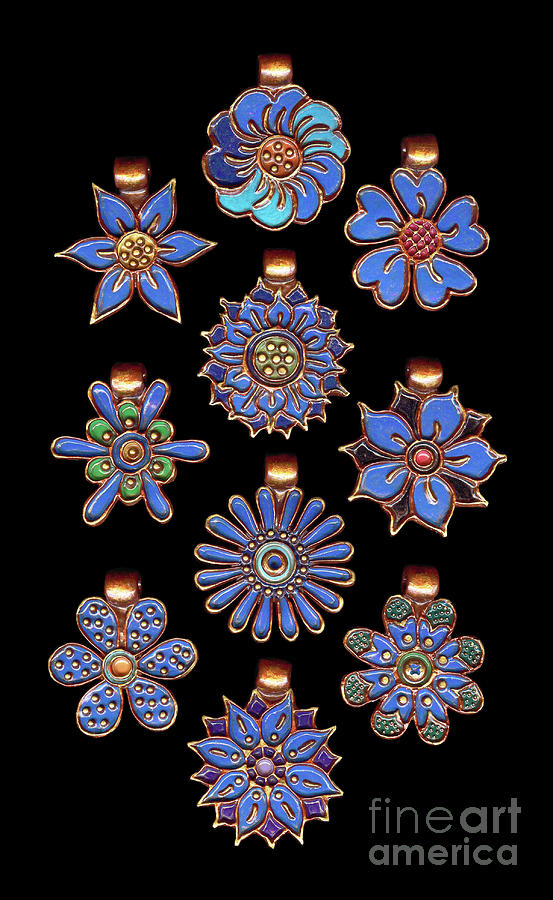 The Exalted Beauty Empress Medallions. Cosmic Blue by Amy E Fraser