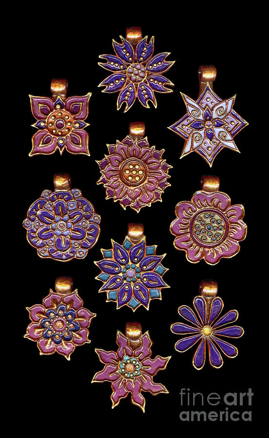 The Exalted Beauty Empress Medallions. Regalia and Fandango by Amy E Fraser