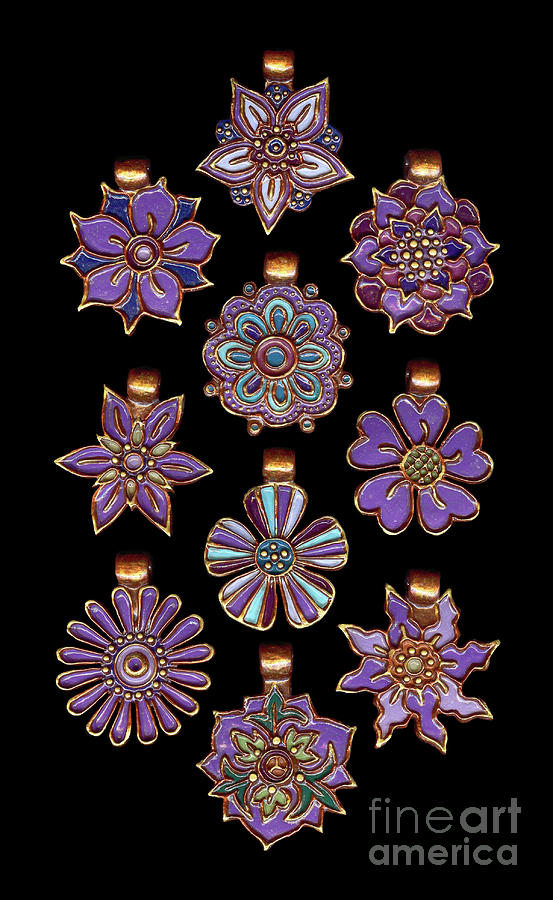 The Exalted Beauty Empress Medallions. Spring Iris by Amy E Fraser