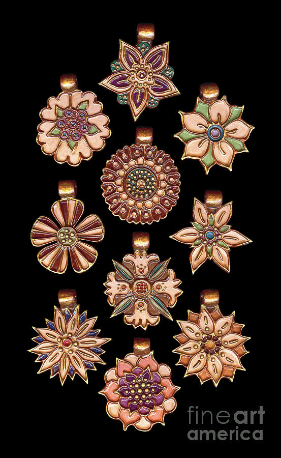 The Exalted Beauty Empress Medallions. Victorian Blush by Amy E Fraser