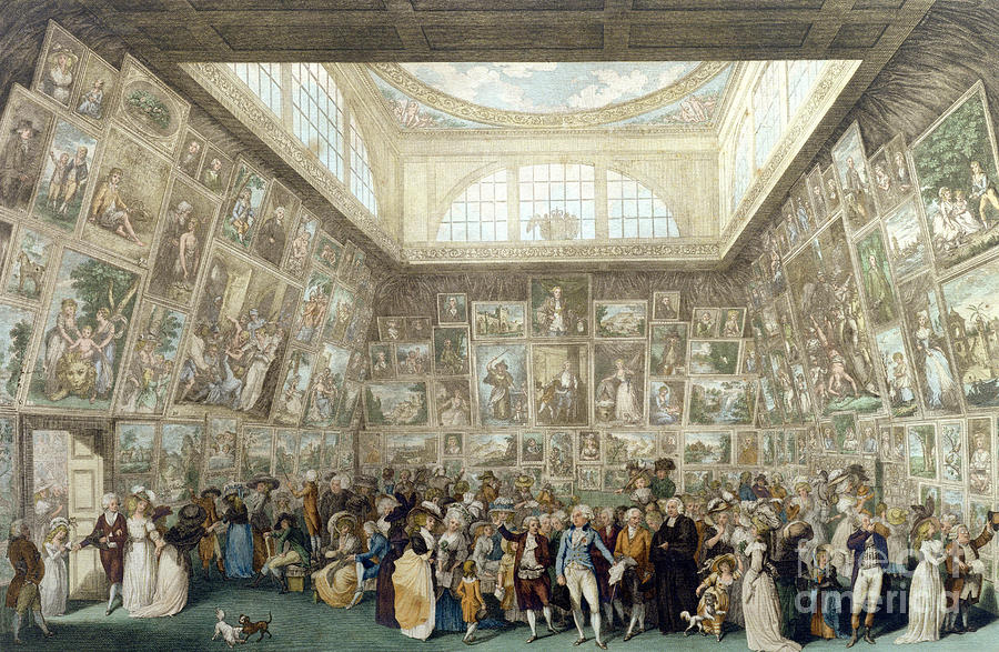 Show Painting - The Exhibition Of The Royal Academy, 1787 by Pietro Antonio Martini