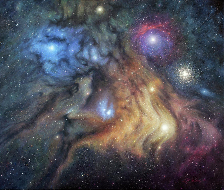 The Exquisite Reflections of Rho Ophiuchi by Lucy West