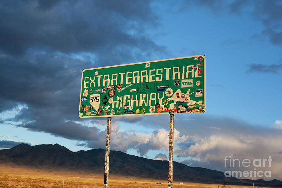Highway Photograph - The Extraterrestrial Highway by Patrick Oliver