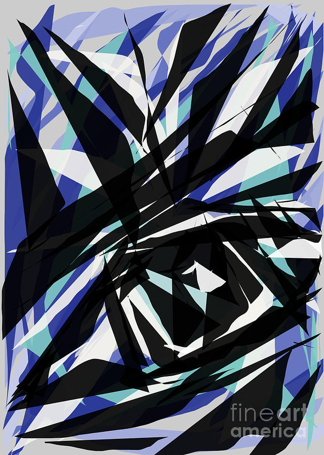 Abstract Digital Art - The Eye by Hilda Lechuga