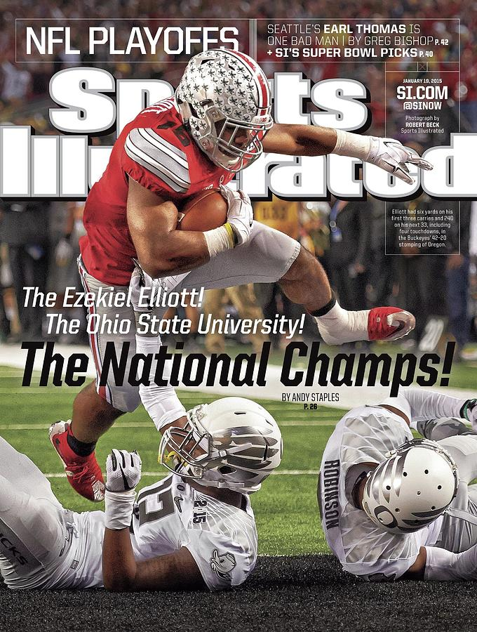 Magazine Cover Photograph - The Ezekiel Elliott The Ohio State University The National Sports Illustrated Cover by Sports Illustrated