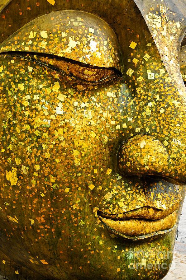 Symbol Photograph - The Face Of Buddha by Wasu Watcharadachaphong