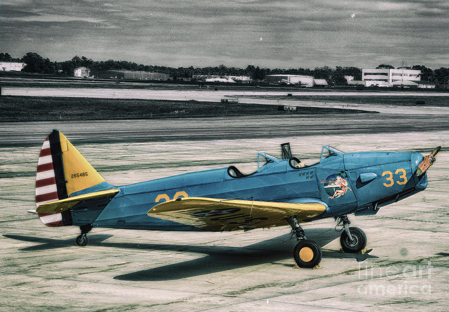 Airplanes Photograph - The Fairchild PT - 19A by Steven Digman