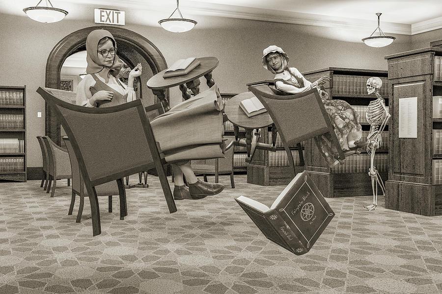 Library Digital Art - The Fairytale Book by Betsy Knapp