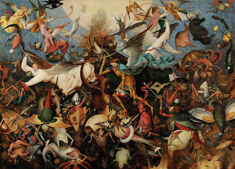 Pieter Bruegel The Elder Painting - The Fall Of The Rebel Angels, Circa 1562 by Pieter Bruegel the Elder