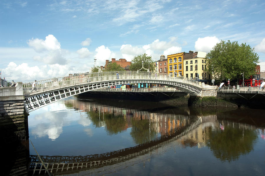 The Famous Hapenny Bridge In Dublin Photograph by Stevenallan