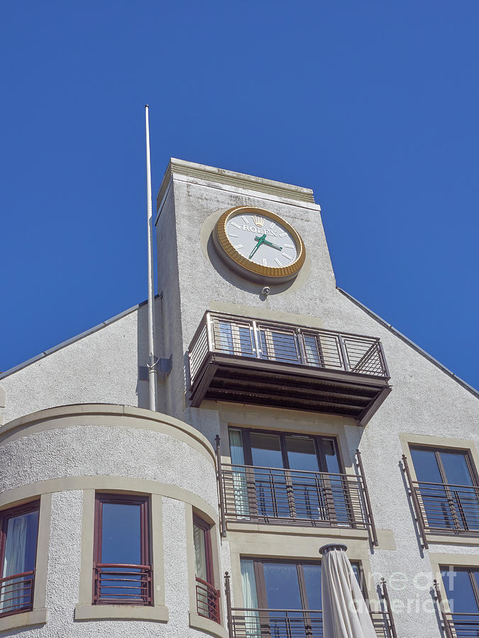 The Famous Rolex Clock At The Carnoustie Golf Links Hotel.