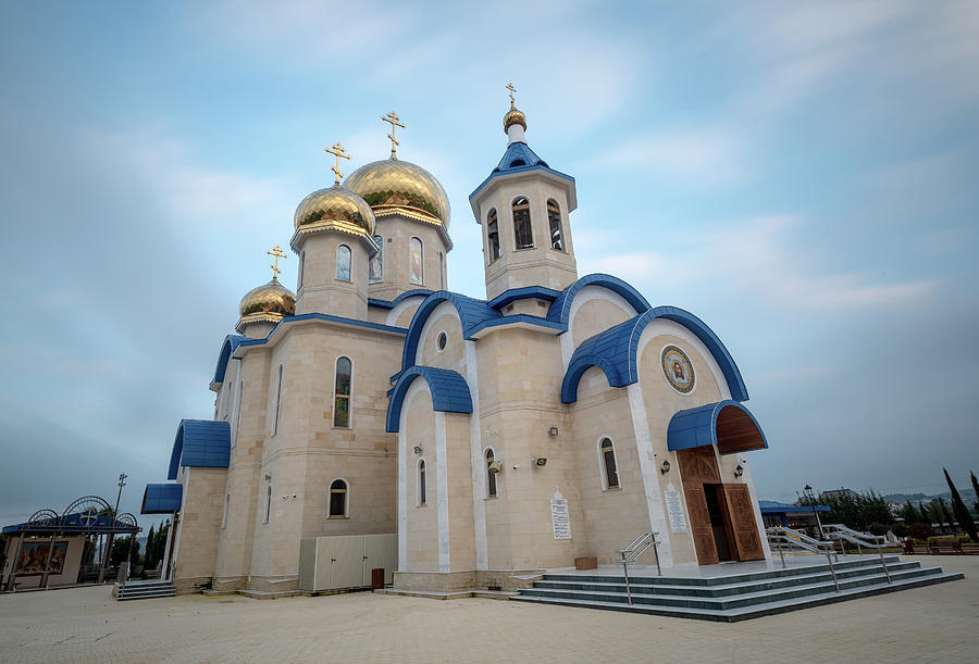 The famous Russian style orthodox church  at the village Episkop by Michalakis Ppalis