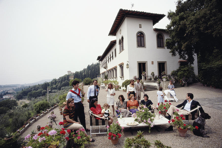 The Ferragamo Family Photograph by Slim Aarons