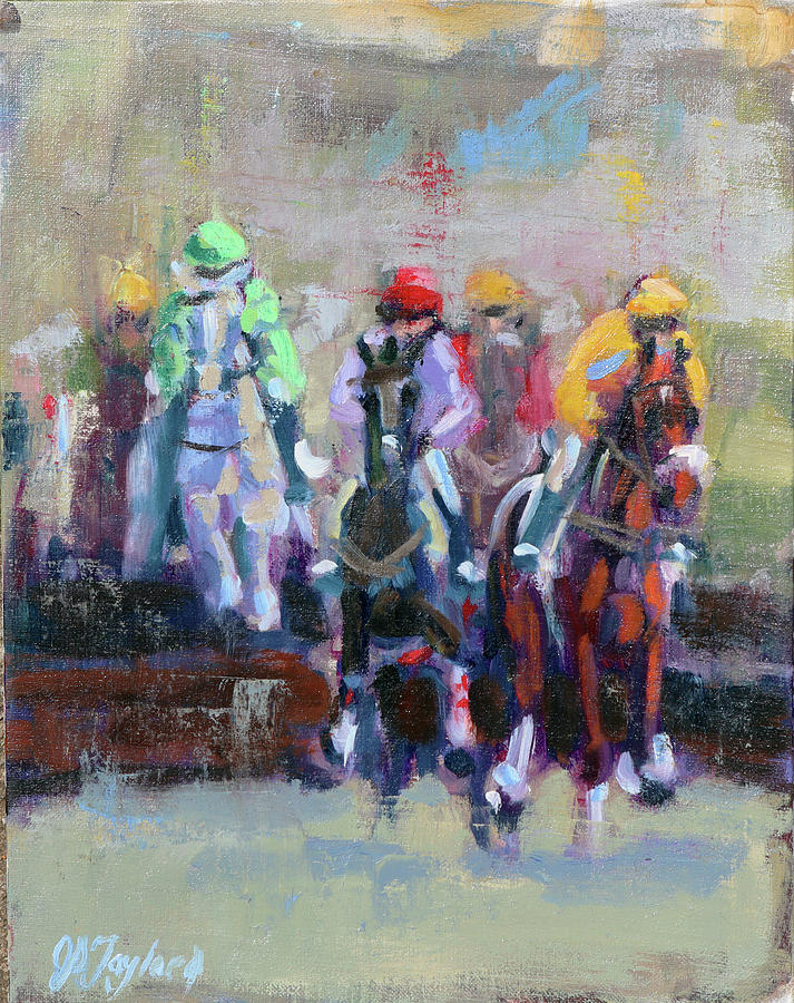 Impressionist Painting - The Final Jump by Jennifer Stottle Taylor