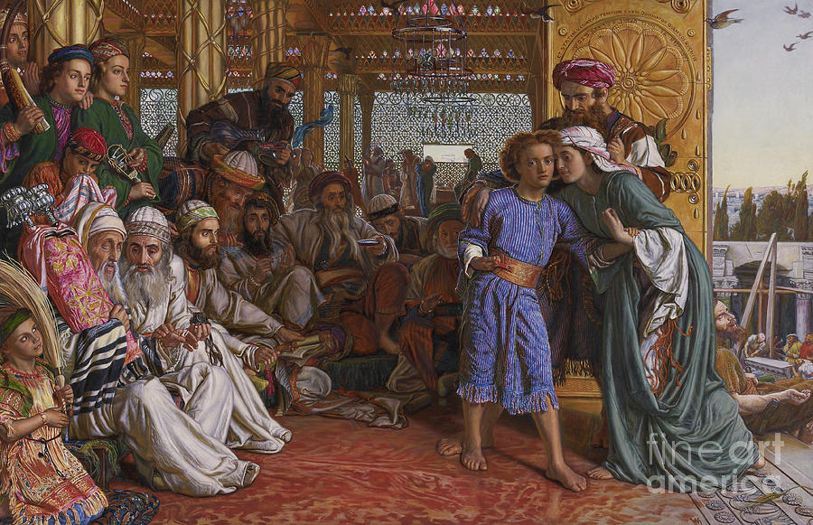 Hunt Painting - The Finding Of The Savior At The Temple by William Holman Hunt