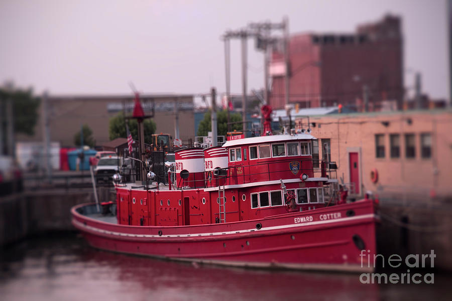 The Fireboat Edward M. Cotter. by Jim Lepard