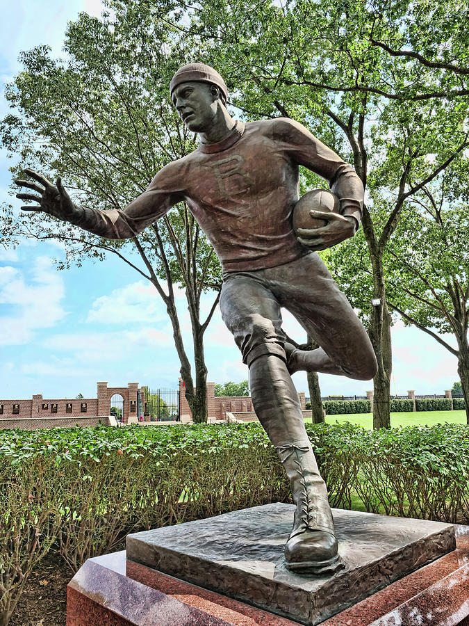 The First Football Game Statue # 2 - Rutgers University Photograph