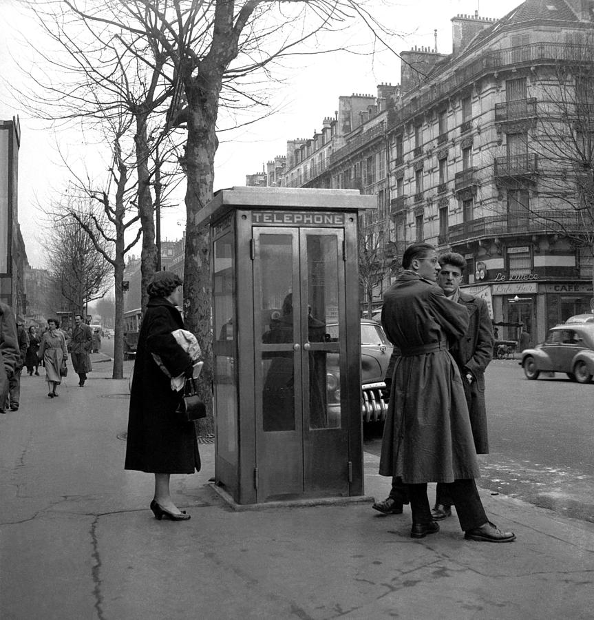 The First Public Telephone Installed In Photograph by Keystone-france