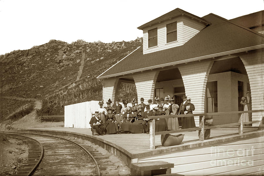 The first Tavern of Tamalpais Marin County,  built in 1896, Circ by California Views Archives Mr Pat Hathaway Archives