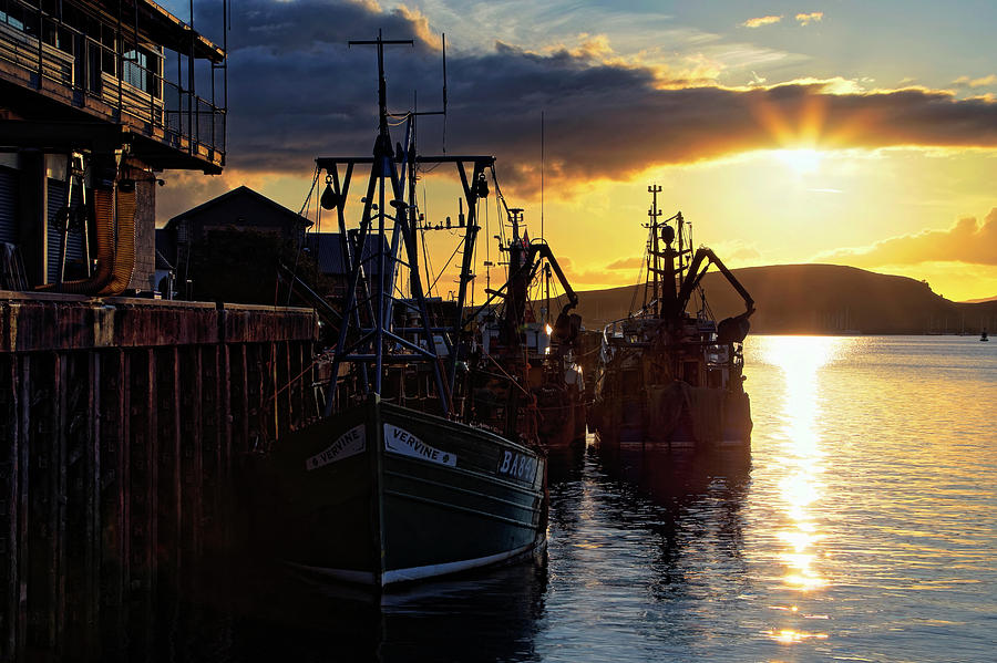 The Fishing Boats of Oban - Scotland - Sunset by Jason Politte