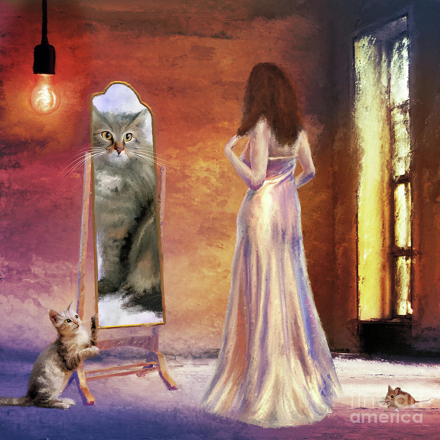 Surrealism Painting - The Fitting Room by Anne Vis