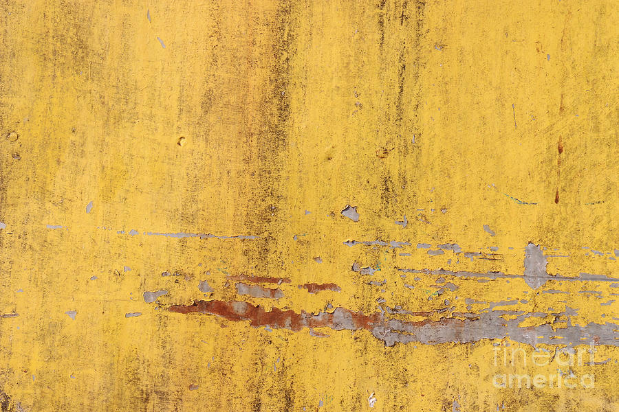 The Flaking Yellow Color With Scratched Digital Art by Tcy26