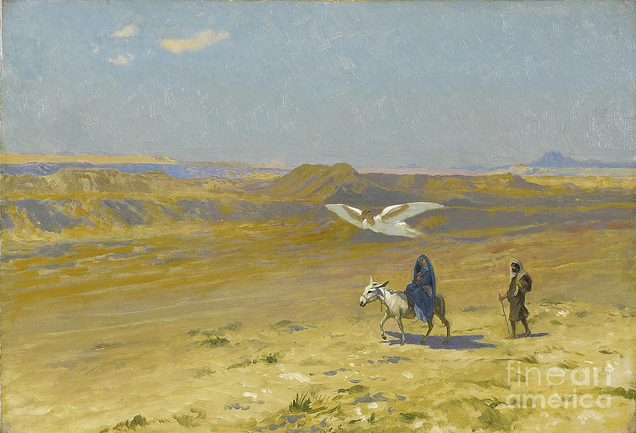 The Flight Into Egypt Drawing by Heritage Images
