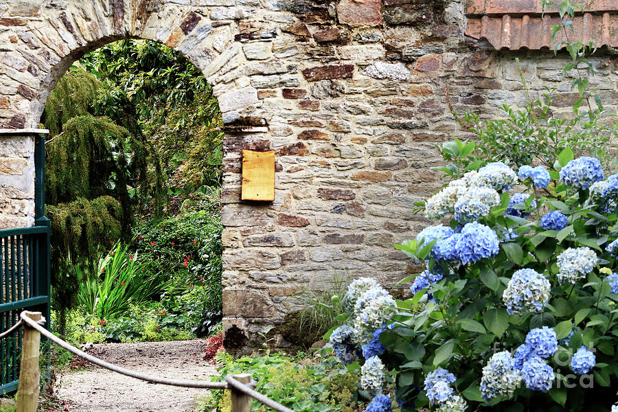 The Flower Garden Gateway At Enys Photograph