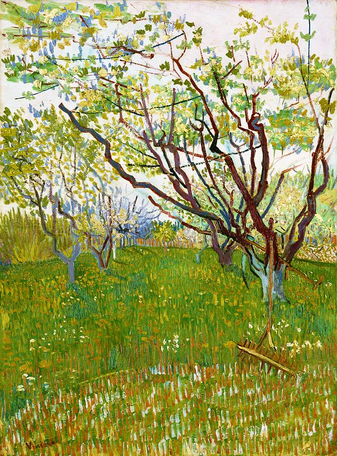 Vincent Van Gogh Painting - The Flowering Orchard - Digital Remastered Edition by Vincent van Gogh