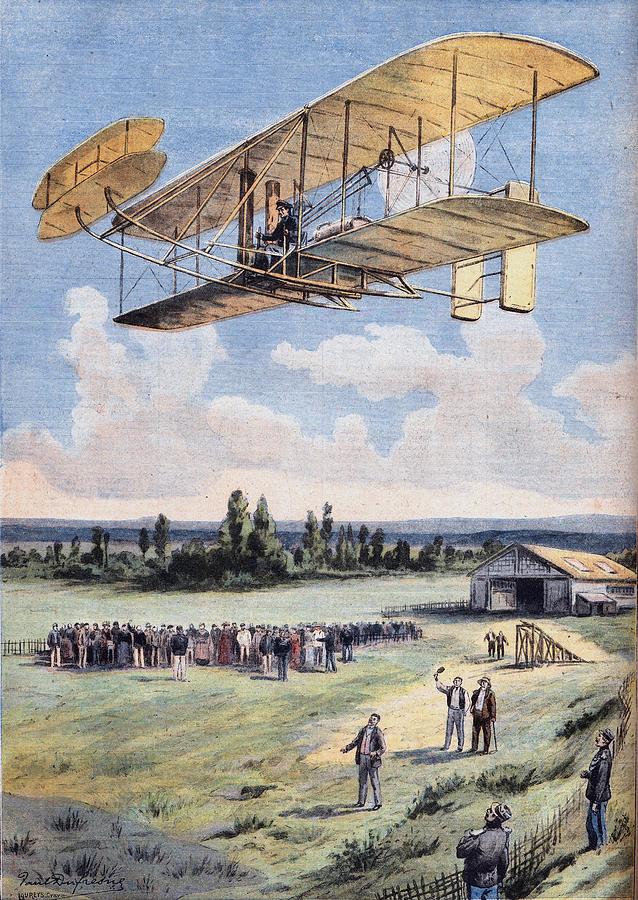 The Flying Men, Wilbur Wright 1867-1912 Digital Art by Leemage