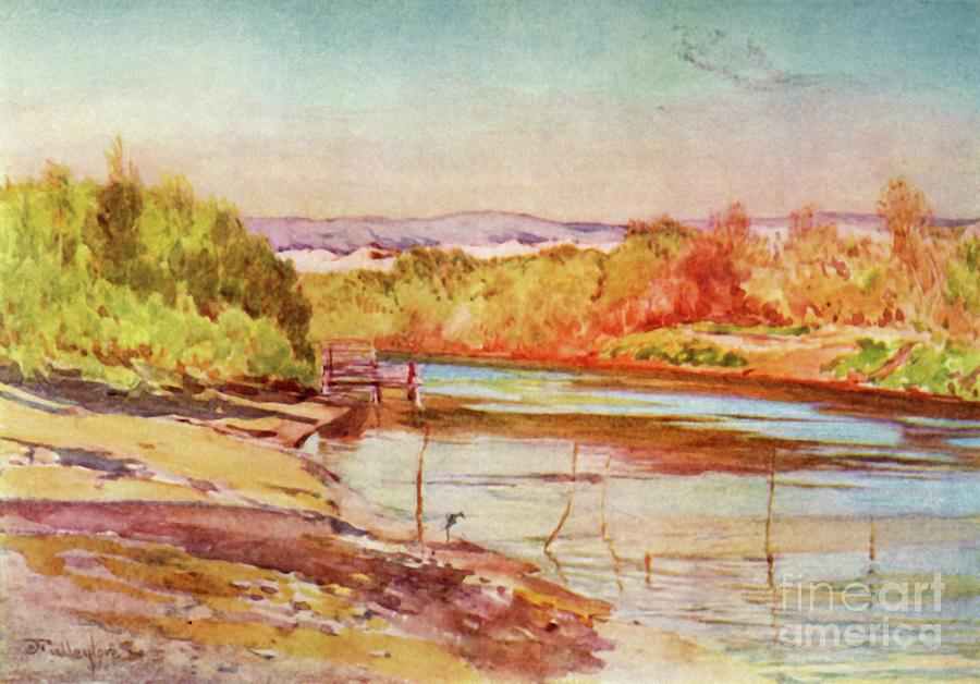 The Ford Of The Jordan Near Jericho Drawing by Print Collector