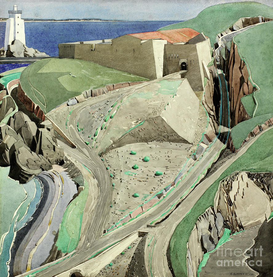 The Fort Painting - The Fort by Charles Rennie Mackintosh