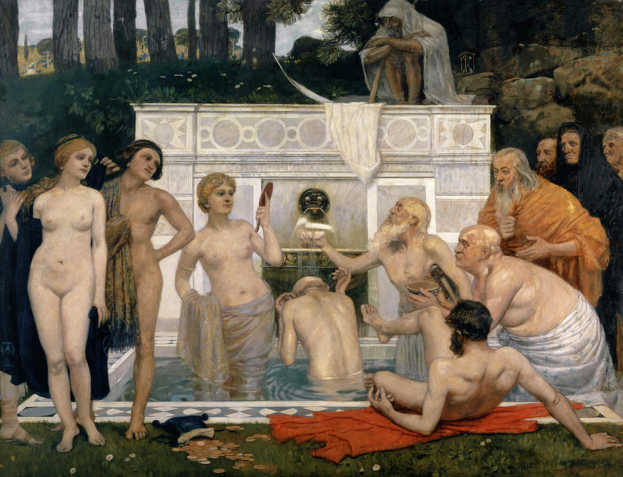 The Fountain Of Youth Painting - The Fountain Of Youth by Hans Sandreuter
