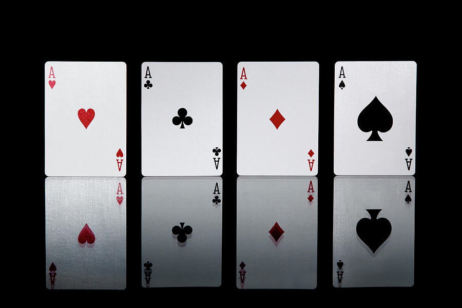 The Four Aces From A Pack Of Playing Photograph by Sasha Weleber