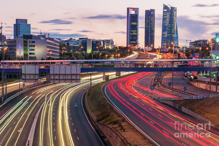 The Four Towers of Madrid by Fine Art On Your Wall