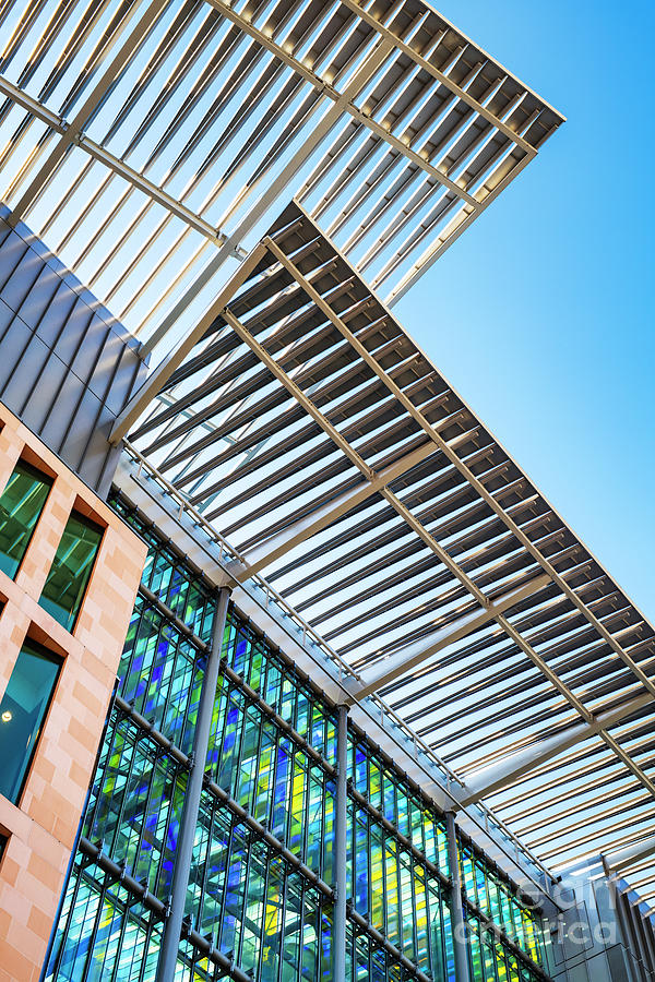 The Francis Crick Institute Building Abstract by Tim Gainey
