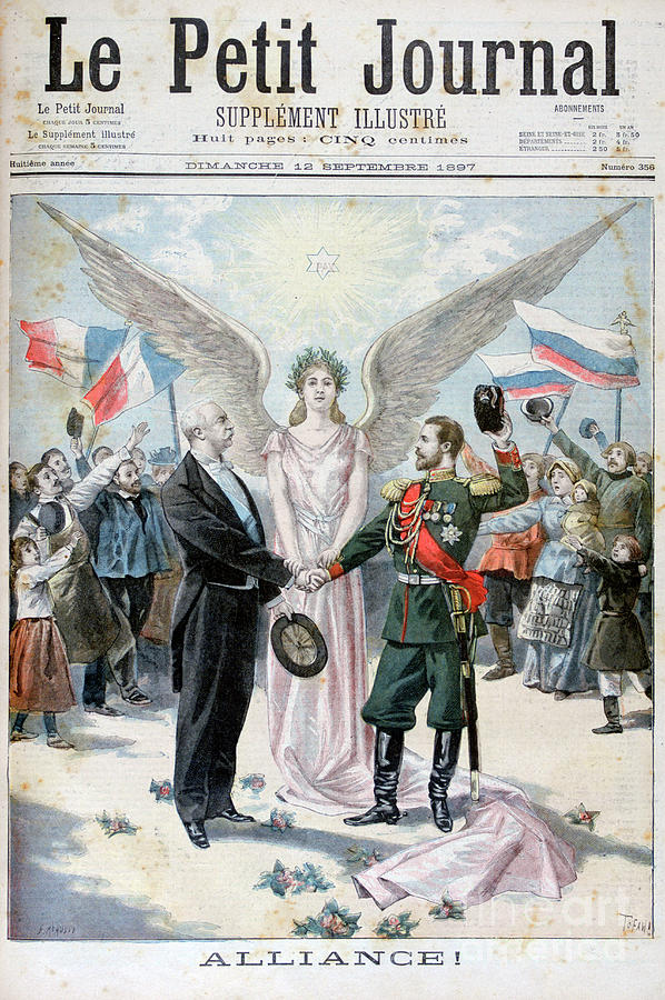 The Franco-russian Alliance, 1897 Drawing by Print Collector