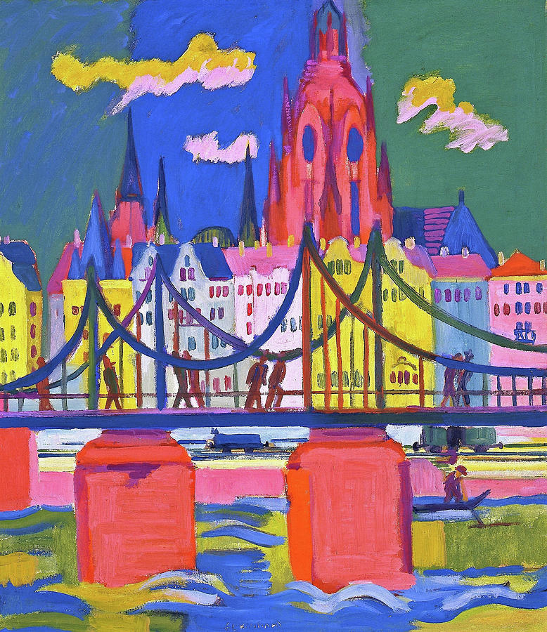 Ernst Ludwig Kirchner Painting - The Frankfurt Cathedral - Digital Remastered Edition by Ernst Ludwig Kirchner